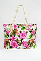 Пляжная сумка Бенидорм розовая