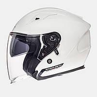 MT Avenue SV Solid Gloss Pearl White, XS, Мотошлем лицевик с очками, фото 1