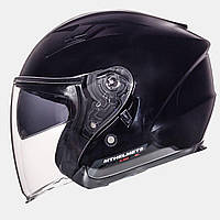 MT Avenue SV Solid Gloss Black, S, Мотошлем лицевик с очками