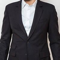 Пиджак мужской приталенный темно-синий