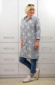 Рубашка лен с вышивкой - Модель 1645-2