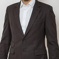 Пиджак мужской приталенный угольный (темно-серый)