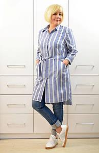 Рубашка в полоску с карманами - Модель 1655