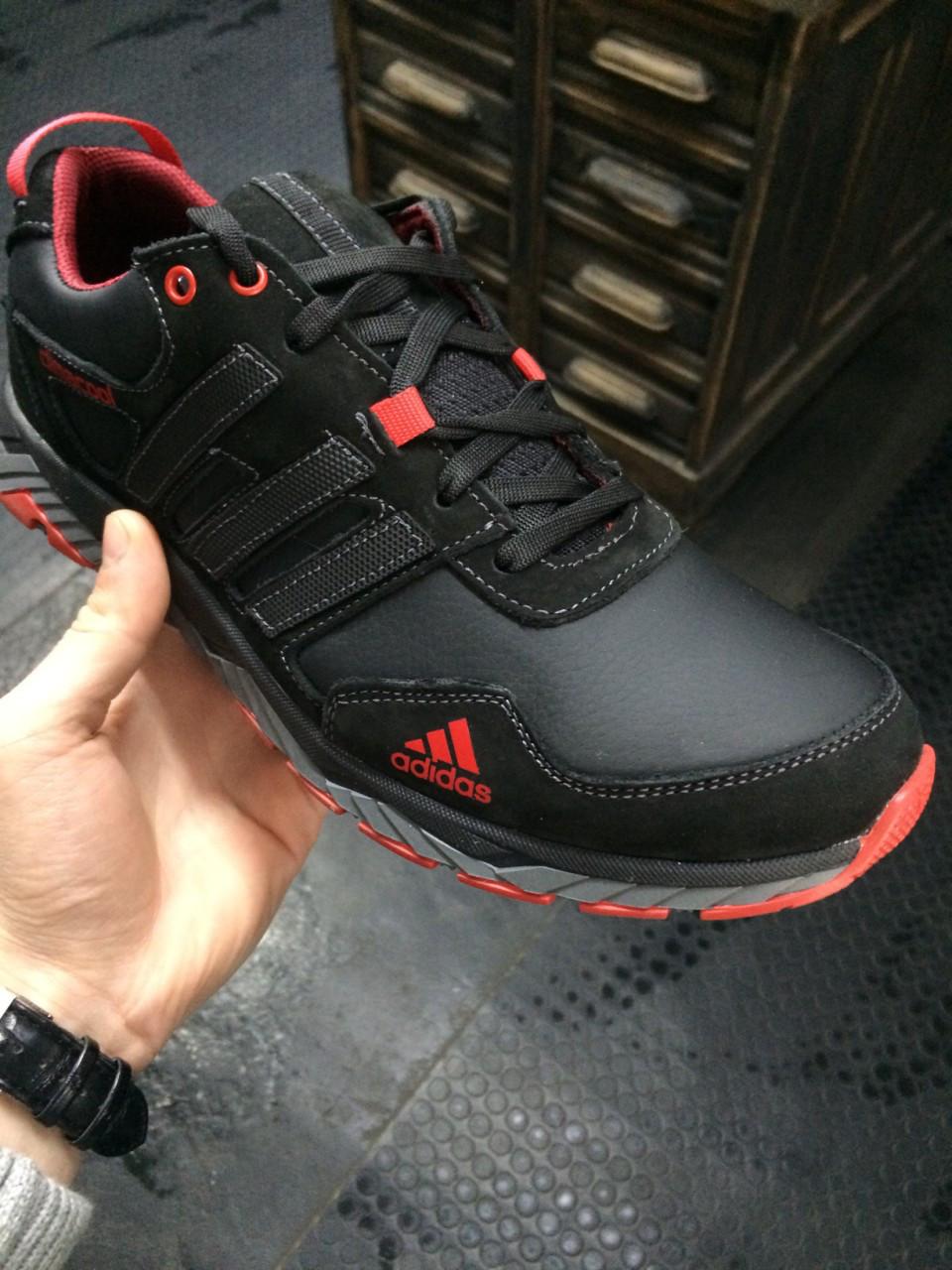 Кроссовки мужские Adidas Climacool.Кожа,черные,синие