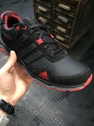 Кроссовки мужские Adidas Climacool.Кожа,черные,синие, фото 2