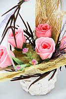 Цветы из мыла набор Смелый Розовый Композиция Soap Flowers Daring Pink