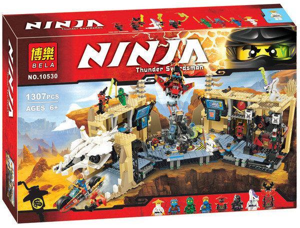 """Конструктор Bela Ninja 10530 (аналог Lego Ninjago 70596) """"Хаос в X-пещере Самураев"""" 1307 деталей"""