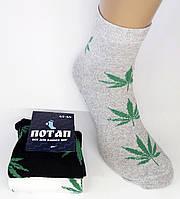 """Мужские носки """"Потап"""" Конопля. Черный, белый, серый., фото 1"""