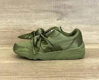 Женские кроссовки Puma by Rianna Fenty Bow Sneaker Olive зеленые