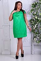 """Красивое женское платье """"набиной гипюр на атласе"""" с  52, 54, 56 размер батал"""