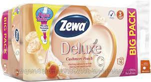 Туалетная бумага Zewa deluxe cashemere peach 16 шт
