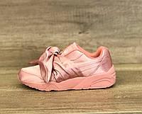 Женские кроссовки Puma by Rianna Fenty Bow Sneaker Pink розовые 2c2ecf47bdfd4