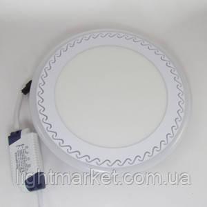 Светильник врезной LED 12+4Вт с подсветкой, фото 2