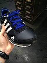 Кроссовки мужские Adidas Climacool.Кожа,черные,синие, фото 3