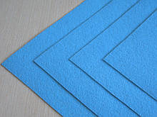 Фетр Турция Голубой Жесткий 1 мм 20 на 30 см