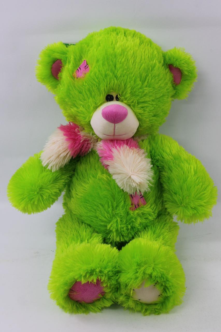 Мягкая игрушка мишка Тедди, зеленый, 10.14.03