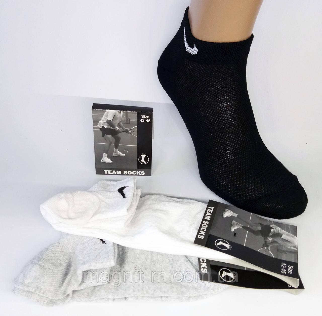 Шкарпетки чоловічі короткі. Сітка. Р-Р 42-45. Чорний, сірий, білий.