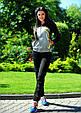 Женский спортивный костюм черного цвета двухнитка , фото 2