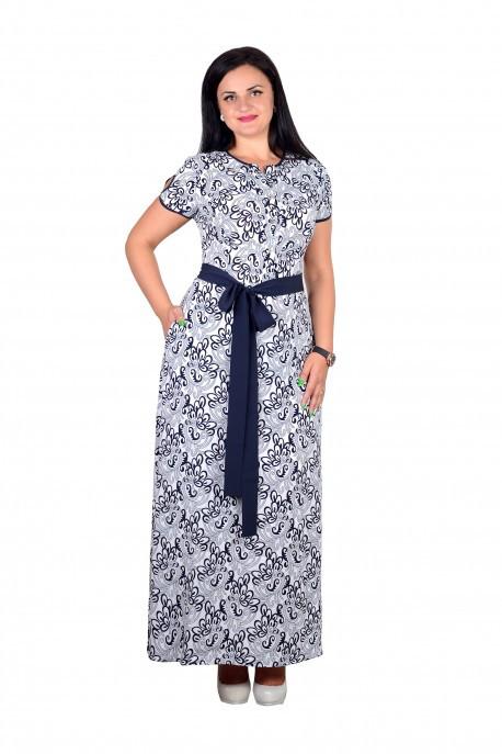 """Романтичное платье с цветочным принтом ткань """"Евро шелк"""" 44 размер норма"""