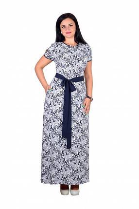 """Романтичное платье с цветочным принтом ткань """"Евро шелк"""" 44 размер норма, фото 2"""