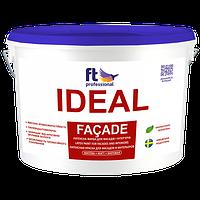 Атмосферостойкая латексная краска для фасада и интерьера IDEAL FACADE (белый), 3 л