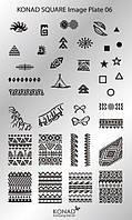 Мини пластина для стемпинга Konad Square Image Plate 06
