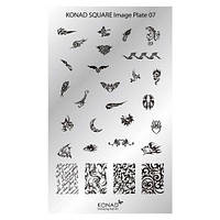 Мини пластина для стемпинга Konad Square Image Plate 07