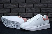 Мужские кроссовки Alexander Mcqueen White/Pink