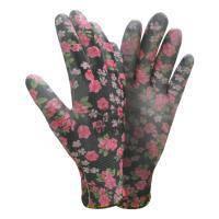 Перчатки трикотажные с частичным ПУ покрытием р8 (черные манжет) Sigma 9446501