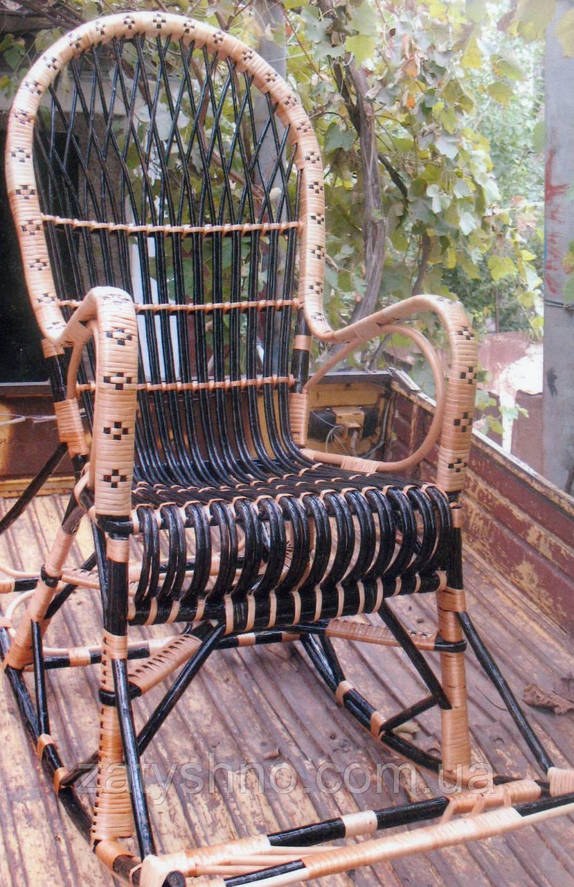 Кресло качалка с подножкой