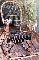 Крісло качалка з підніжкою | крісло-гойдалка для відпочинку садова для дачі