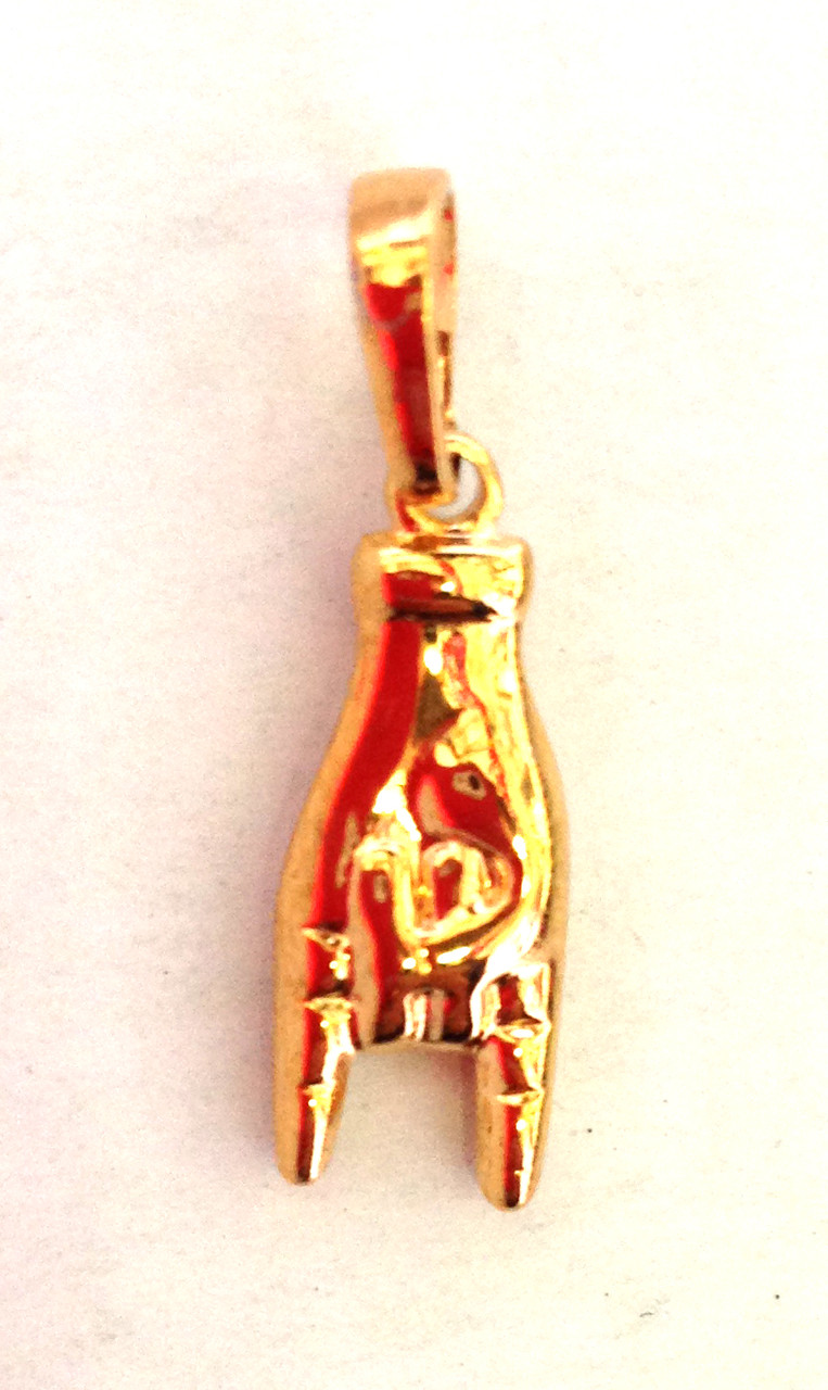 Кулон рука, позолота 18 К, Xuping
