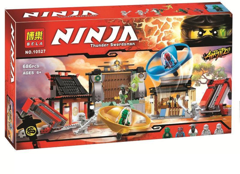 """Конструктор Bela Ninja 10527 """"Боевая площадка для аэроджитцу"""" 686 деталей"""