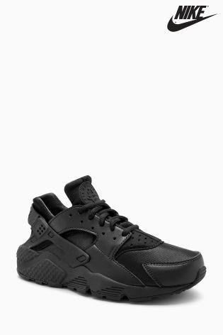 Мужские кроссовки Nike Huarache.Черные,неопрен