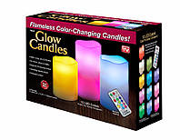 Супер НОВИНКА ночник 3 свечи Luma Candles Color Changing