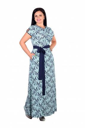 """Романтичное платье с цветочным принтом ткань """"Евро шелк"""" 46 норма, фото 2"""