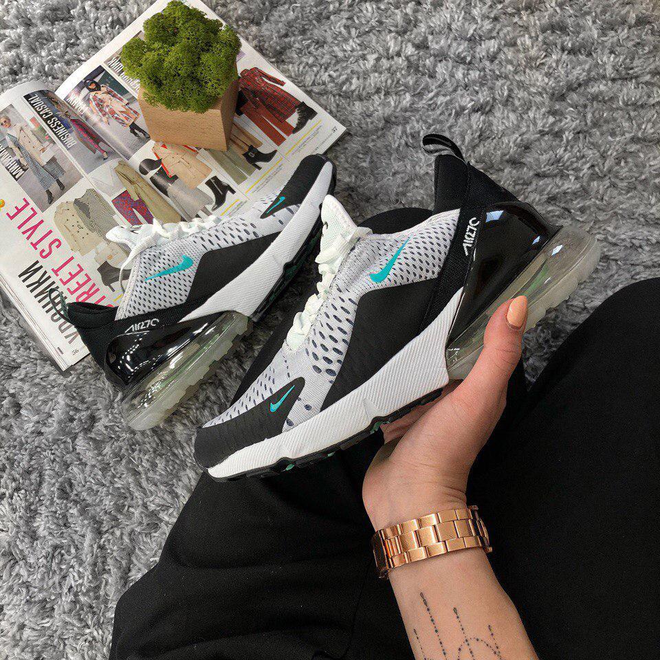 Женские кроссовки Nike Air Max 270 Gray White  топ Реплика