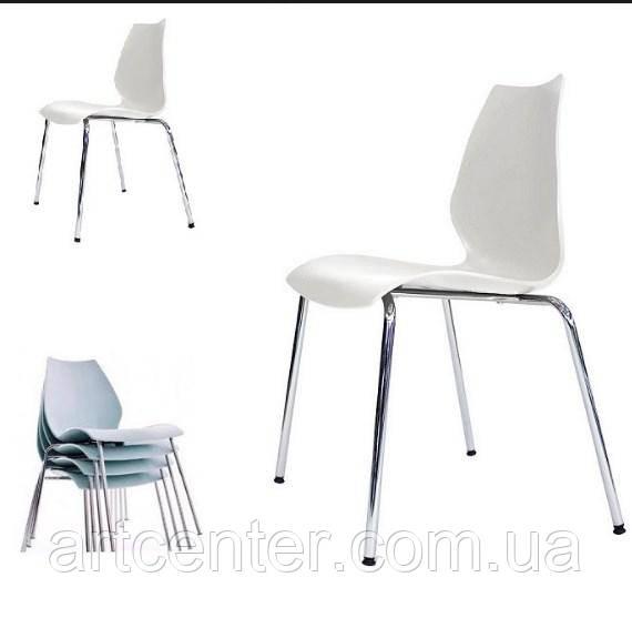 Стул офисный, стул для столовой, стул для посетителей, стул обеденный(Лили белый)