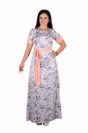 """Романтичное платье с цветочным принтом ткань """"Шелк"""" 46, 48, 50, 52, 54, 56 батал, фото 2"""