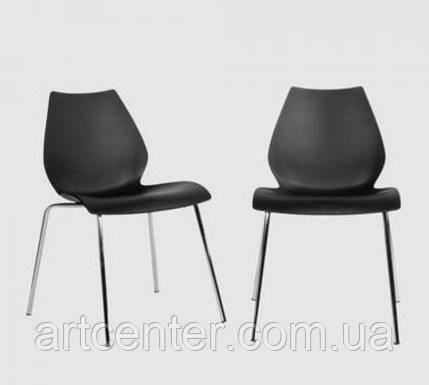 Стул пластиковый, стул офисный, стул для посетителей, стул обеденный(Лили черный)