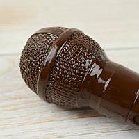 """Шоколадная фигура """"Микрофон черный"""" КЛАССИЧЕСКОЕ сырье. Размер: 207х55 мм, вес 200г, фото 1"""