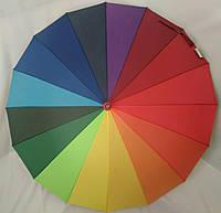 Зонт-трость полуавтомат Радуга Ziller ZL-404 на 16 спиц / Зонт антиветер, фото 1
