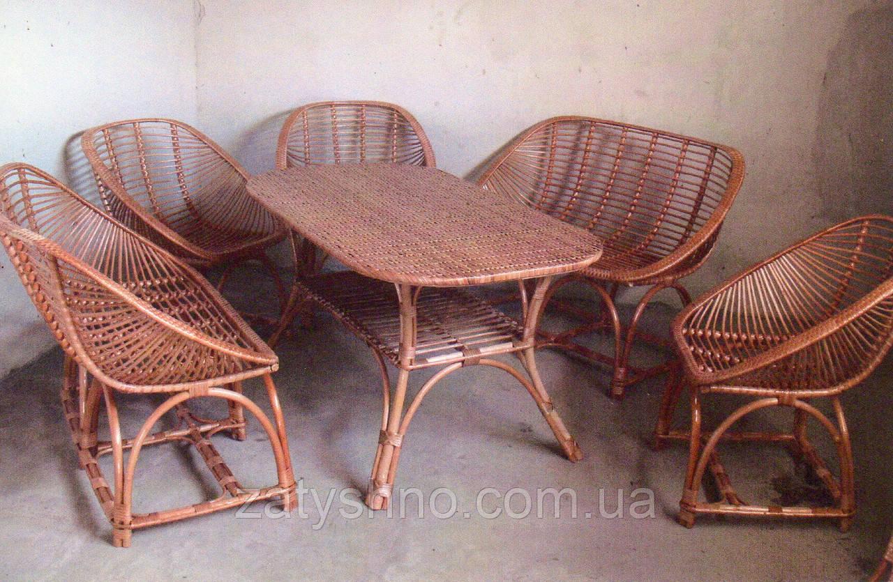 Комплект плетеной мебели с диванами