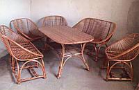 Мебель плетеная с диванами