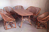 Комплект плетеной мебели с диванами, фото 1