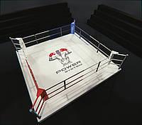 Боксерский ринг на помосте 35 см, тренировочный 4Х4 метра, ринг для бокса, фото 1