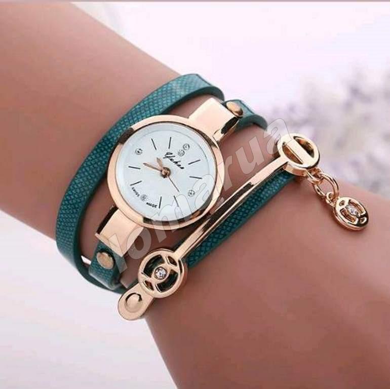 Женские часы-браслет со стразами Green