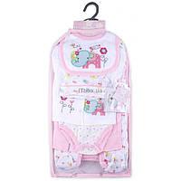 Набор детской одежды Luvena Fortuna для девочек подарочный 7 предметов (G8342.6-9)
