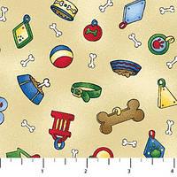 Ткань для пэчворка, Bow Wow Buddies- Single Colorway, 4745-34