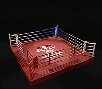 Ринг на помосте (0,35 м) профессиональный 5,5Х5,5 метра